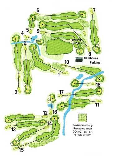 Layout Arrowhead Golf Course